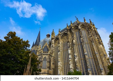 Beautiful architecture of Aachen Cathedral, Aachen, Germany