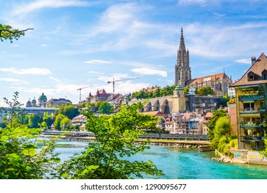 Beautiful Architecture at Bern City and Berner Munster cathedral in Switzerland