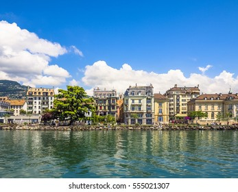 Beautiful Architecture by the Lakeside in Vevey City, Switzerland