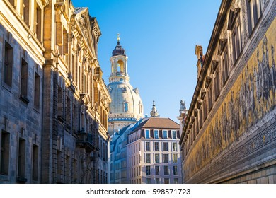 beautiful architecture of Dresden, Saxony, Germany