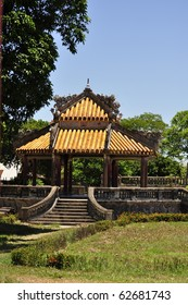 Beautiful architecture at the Hue Citadel, Vietnam