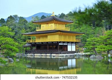 Beautiful architecture of kinkakuji (golden pavilion), kyoto  Japan during spring