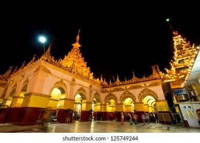 Beautiful architecture of Mahamuni paya temple , Mandalay Myanmar