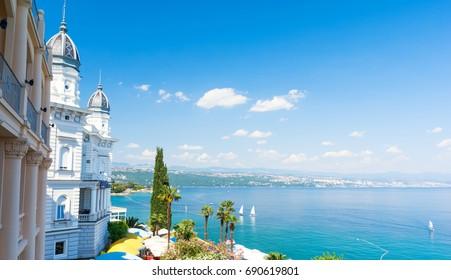 beautiful architecture in Opatija, Istria, Kvarner, Croatia