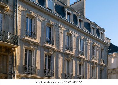 Beautiful architecture in Rue Thiers, Reims, Champagne, France