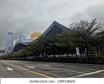Beautiful architecture Shenzhen China government museum building exterior