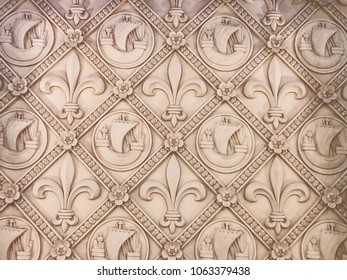 Beautiful architecture. Wall with patterns