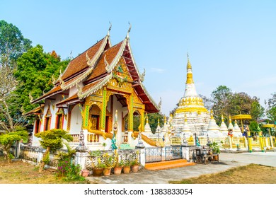 Beautiful architecture Wat Luang at Pai in Mae Hong Son, Thailand