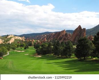 Beautiful        Arrowhead Golf course nestled in the Red Rocks  in Littleton Colorado