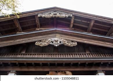 Beautiful art and architecture of old wooden house in Samurai District of Kakunodate,Akita,Tohoku,Japan