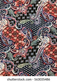 The beautiful of art fabric Batik Pattern