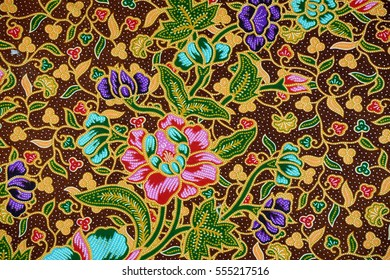 The beautiful of art Malaysian and Indonesian Batik Pattern for Background. Batik industry is a mass production in Malaysia and Indonesia.