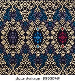 A beautiful art of Sarawak batik pattern. Sarawak batik is rapidly gaining popularity among Malaysians and tourists.