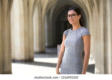 Beautiful asian american entrepreneur young career woman, fashionable, stylish, posing with smile