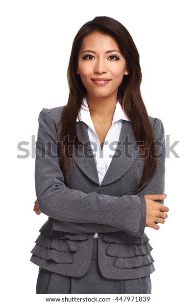 Beautiful asian business woman.