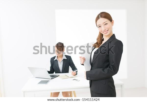 Beautiful asian business women