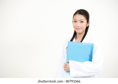 beautiful asian doctor working