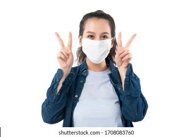 beautiful asian female take mask off after get better from corona virus covid-19 outbreak with happiness confident and cheerful asian woman get well from sick business insurance ideas concept