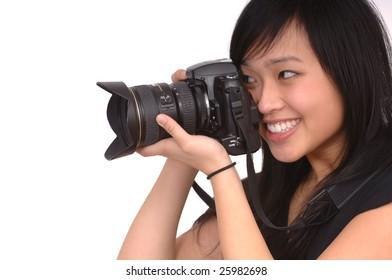Beautiful Asian Photographer