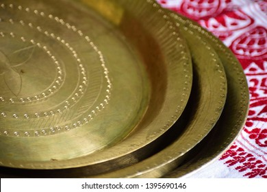 Beautiful Assamese traditonal bell metal utensiles used in every assamese people house