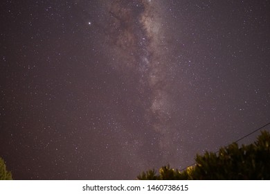 Beautiful astrophotography milky way thousand of stars galaxy universe outerspace clear night sky infinity focus