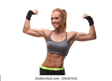 Beautiful athletic woman . pretty athletic girl