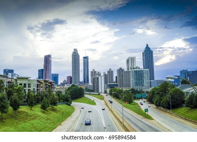 Beautiful Atlanta City View from Jackson Bridge