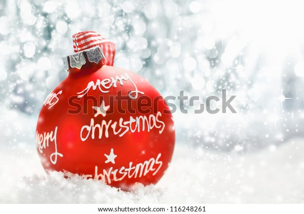 Beautiful Atmospheric Merry Christmas Greeting Card Stock