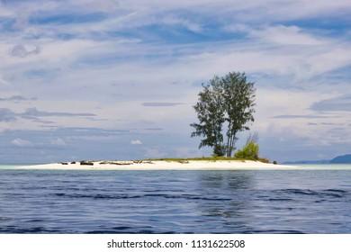 beautiful atoll and reef near batanta island in raja ampat archipelago, west papua