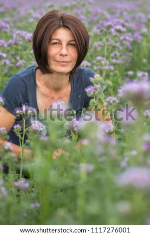 Beautiful Attractive 40 Year Old Woman Stock Photo Edit Now