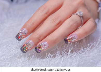 Ombre Nails Images Stock Photos Vectors Shutterstock