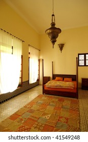 Beautiful Authentic Arabic Bedroom In A Traditional Riad Guesthouse Morocco