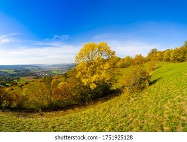 Beautiful autmn in Germany Thuringia