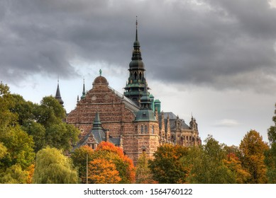 Beautiful autumn colorful view of Stockholm, Sweden
