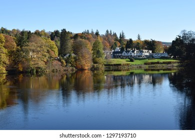 A beautiful Autumn or Fall day at Loch Faskally, Perthshire, Scotland