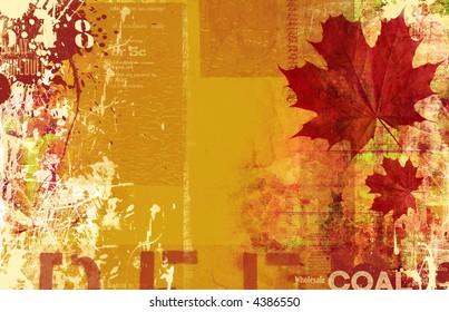 beautiful autumn grunge layout