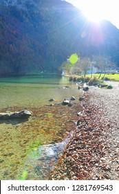 Beautiful autumn lake in Germany
