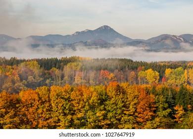 Beautiful Autumn landscape of Chocske vrchy, Slovakia