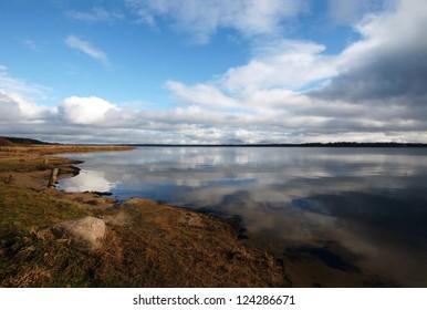 Beautiful autumn landscape with the lake Vselug