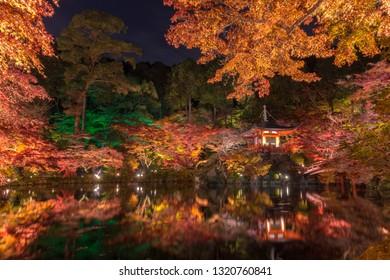 Beautiful autumn leaves in Daigoji-Temple, kyoto, japan