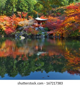 Beautiful autumn leaves in Daigoji-Temple, kyoto, japan