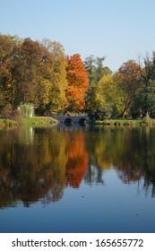 Beautiful autumn in Lodz