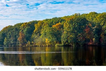 Beautiful autumn scenery in Germany.