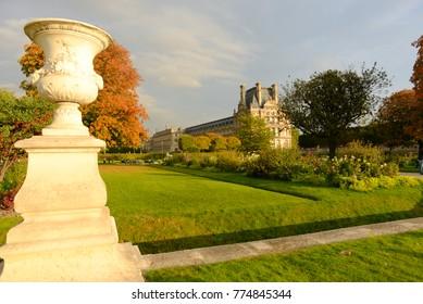 Beautiful Autumn in the Tuileries garden, Paris