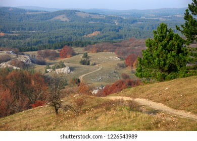 Beautiful autumn view of Ai-Petri plateau in Crimea