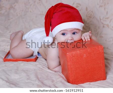 f8515450902 Beautiful Baby Cap Santa Claus Gifts Stock Photo (Edit Now ...