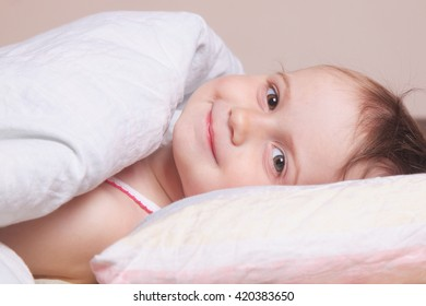 Beautiful baby girl getting ready for bed (childhood, security, family)