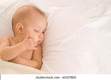 beautiful baby on a white background
