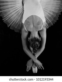 Beautiful back ballerina