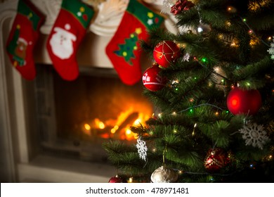 Christmas Stockings Fireplace Images Stock Photos Vectors Shutterstock